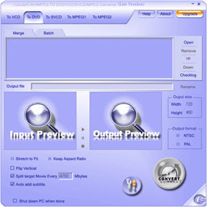 MPEG AVI to DVD SVCD Converter